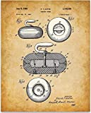 Curling Stone - 11x14 Unframed Patent Print - Great Room Decor or Gift Under $15 for Curling Enthusiasts
