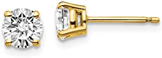 14k Yellow Gold 1ctw Certified VS/SI, D E F, Lab Grown Diamond 4-Prg Earring