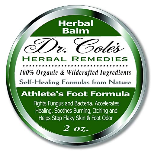 Dr. Cole's Organic Athlete's Foot Treatment – Extra Strength, Natural, Anti-fungal Herbal Remedy Ointment That Kills Fungus – Soothes Itchy, Scaly or Cracked Feet Sanitizes Fungus & Infected Toenails