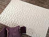 - Lord of Rugs - Alfombra morisca de Marruecos tallada a mano 100% lana gruesa suave 3D alfombra para el hogar (crema morisca, 200 x 290 cm)