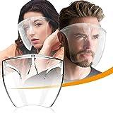 CZYSKY Face Cover Designed Fashion Style & Comfort, Face Shield Mask Glasses, Gafas Transparentes de PVC Reutilizables, protección antivaho, 2 Piezas