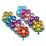 TOYANDONA Globos de decoración de fiesta de flor de papel de aluminio para fiesta de boda de cumpleaños fiesta 10 unidades (colores surtidos)