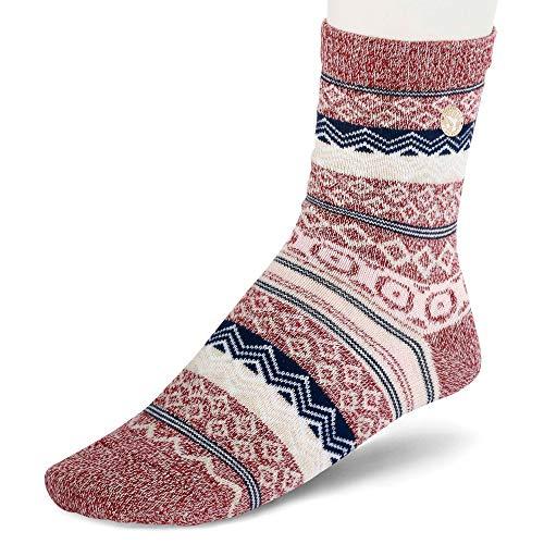 BIRKENSTOCK Damen Socken - Cotton Jacquard - Tawny Port (39-41 EU)