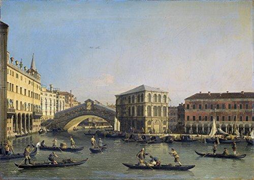 Canaletto: The Rialto Bridge, Venice, Italy. Fine Art Print/Poster. Size A4 (29.7cm x 21cm)