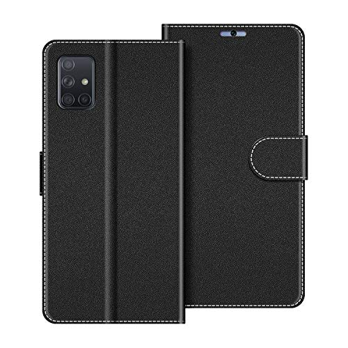 COODIO Funda Samsung Galaxy A71 con Tapa, Funda Movil Samsung A71, Funda Libro Galaxy A71 Carcasa Magnético Funda para Samsung Galaxy A71, Negro