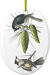 Cheyan Tufted Titmouse, John Audubon Ceramic Ornament Oval