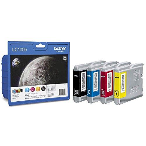 Brother Tintenpatronen Value Pack (Viererpack, Farbe: cyan/gelb/magenta/schwarz) für Lc1000
