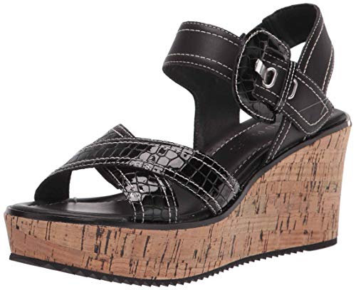 Donald J Pliner Women's Wedge Sandal, Black, 9.5