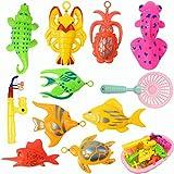 Joyibay 13 Piezas Set De Juguetes De Baño para Niños Clasificado Magnético Set De Juguete De Pesca Juego De Pesca Ducha Juguete Juguete De Agua