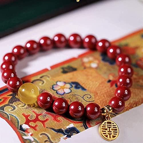 Pulsera china Pulsera hecha a mano Feng Shui Feng shui riqueza pulsera natural cineasta beeswax doble felicidad abalorios brazalete brazalete el amuleto atrae a la sala de la riqueza fuera de los espí