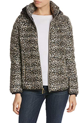 Michael Kors Packable Zip-Front Short Down Jacket