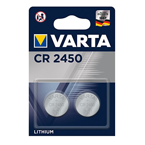 VARTA Batterien Electronics CR2450 Lithium Knopfzelle 2er Pack Knopfzellen in Original 2er Blisterverpackung