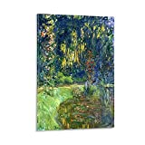 YONGZHAO Claude Oscar Monet – Water Lily Pond at Giverny Poster Decorative Painting Canvas Wall Art Living Room Posters Bedroom Painting 12x18inch(30x45cm)