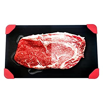 Food Defrosting Tray - Fast Meat Defroster Tray With Extra Thickness - Natural &Quick Thawing Tray For Frozen Meat - Large Defrosting Plate - No Electricity or Warm Water - Reusable & Dishwasher Safe