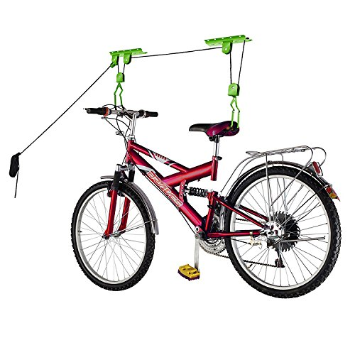 Bike Lane Products Bicycle Hoist 2-Pack Quality Garage Storage Bike Lift with 100 lb Capacity Even Works as Ladder Lift Premium Quality