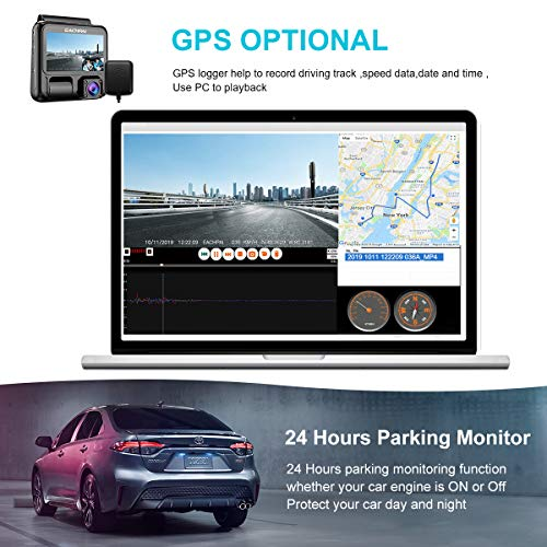 Car Dash Cam 4K, EACHPAI X100 Plus Dual Dash Camera Front and Cabin 3'' Dual Camera Dash Cam for Cars with WiFi, GPS,IR Night Vision,Parking Mode,G-Sensor,Motion Detector,Loop Recording,WDR