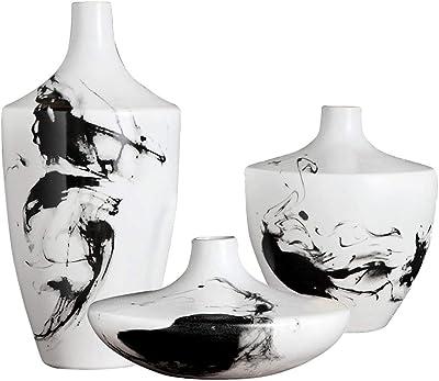 Amazon.com: Porcelana jarrón de gato, gato siamés Escultura ...