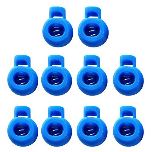 KESOTO 10x Tope de Cable/Clip de Línea 1 Orificio de Plástico - Azul