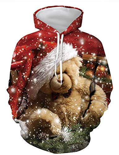 Sudadera Navidad Mujer, Sudadera Navidad Unisex Hombre Sudadera Navidad 3D Impresión Divertido...