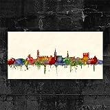 Kunstbruder Hannover Skyline - Farbe (div. Grössen) -
