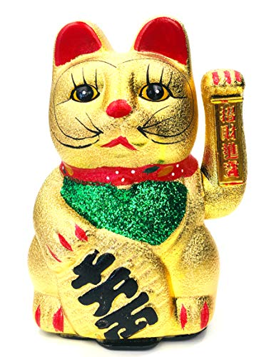 FISH IN THE SEA Details zu Japan Glückskatze Winkekatze 22cm Large Keramik Glück & Liebe & Reichtum