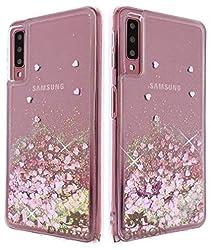 DORRON Girls Stylish Designer Liquid Love Hearts Waterfall Back Case Cover for Samsung Galaxy A7