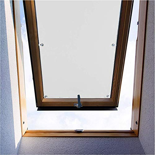 """ZHhan Blackout Roof Skylight Blind Window Curtain for Velux F06 206 Roof Windows with Sucker UV Protection Without Drill and Easy InstallationSucker(White,30""""x55""""(76 x 140cm))"""