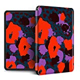 YOPM Funda para Kindle E-Reader,Compatible con 2018 Kindle Paperwhite 4 Kindle Oasis 2/3 Kindle 2019 Auto Sleep/Wake Funda Inteligente De Silicona Flor Roja Abstracta, para J9G29R