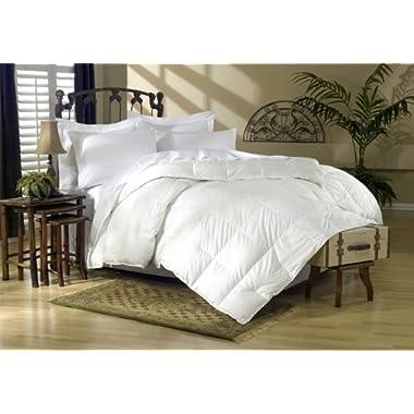 Egyptian Bedding All-Season King Size Luxury Siberian Goose Down Comforter Duvet Insert 750FP 1200 Thread Count 100% Egyptian Cotton (King, White Solid)