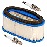 JJDD - Filtro de aire con bujía para Kawasaki FH601V FH641V FH680V FH721V John Deere 647 657 667 717A 727A GT245 GX255 GX335 335 Reemplazo 11013-7024 11013-7027 M140295