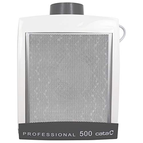 Cata Professional 500 - Extractor de Humos silencioso, 125 W, 57 Decibelios, Plástico y Rejilla de Aluminio, Blanco