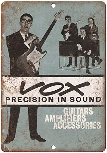 niet Vox Gitaar Versterker Tin Muur Teken Metaal Retro Poster Iron Waarschuwingsborden Vintage Opknoping Art Plaque Yard Garden Cafe Bar Pub Openbaar Gift 8X12 Inch