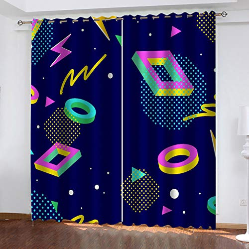 MMHJS 1 Pair Of Thick Colored Decorative Curtains Suitable For Bedroom, Balcony, Kitchen Curtain Personalized Decoration
