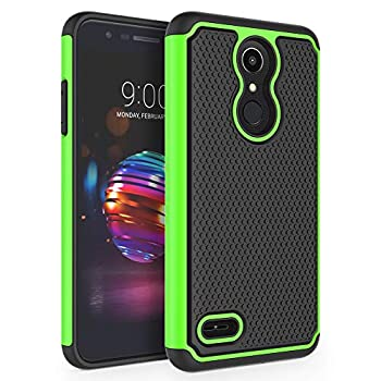 SYONER Shockproof Phone Case Cover for LG K10 2018 / LG K30 / LG Premier Pro LTE / LG K10 Alpha / LG Harmony 2 / LG Phoenix Plus [Green]