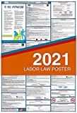 2021 Minnesota Labor Law Posters (Laminated) Combo State and Federal Poster - 27' x 40' MN2