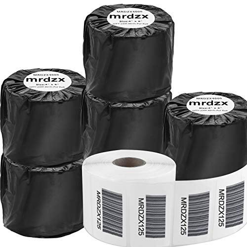 """6 Roll 2.25"""" x 1.25"""" Blank Shipping Labels Compatible with Zebra & Rollo Label Printer?Direct Thermal Shipping Labels Strong Permanent Adhesive,1000 Label Per Roll"""