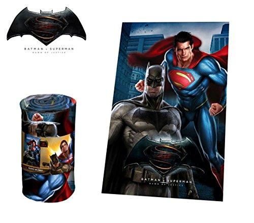 MEDIA WAVE store WA16030 Coperta in Morbido e Caldo Pile Batman VS Superman 100x150cm Plaid