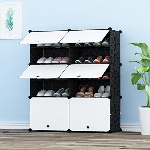 PREMAG Portable Organizador de Almacenamiento de Calzado Torre, Estantería de gabinete Modular para Ahorro de Espacio, Estante de Zapatero Estantes para Zapatos, Botas, Zapatillas 2 * 5