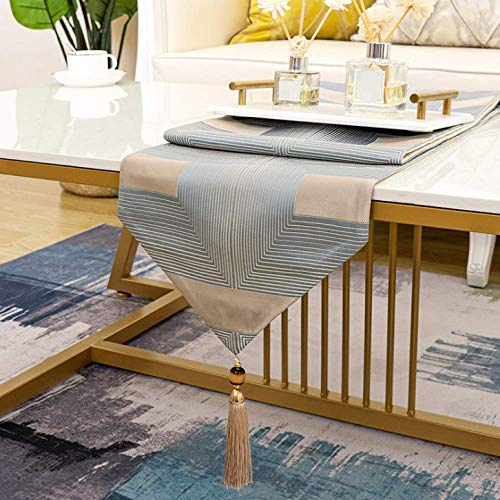 Modern Fashion Striped Silk Triangle Table Runner Living Room Coffee Table Tv Cabinet Dining Table Dressing Table Soft Decoration 30x220cm