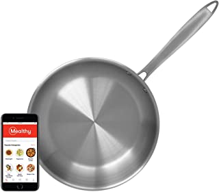 Mealthy Stainless Steel 10-inch Frying Pan, 18/10 Stainless Steel Five-Ply Bonded, the best quality stainless steel, Dishwasher Safe