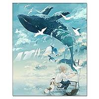 GFJGHJ-数字油絵 数字キット塗り絵 手塗り Diy絵 デジタル油絵シーサイドペインティング-フレームレス 40* 50 Cm