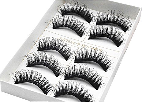 AKAAYUKO 5 Paire Faux Cils épais Natural Maquillage Extension