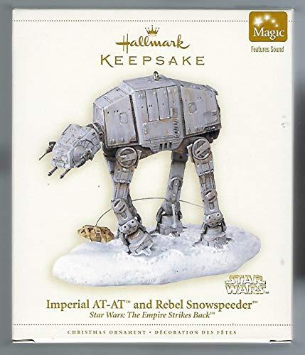 Star Wars Imperial AT-AT Walker and Rebel Snowspeeder Hallmark Keepsake Holiday Ornament
