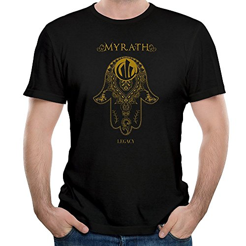 Herren's Myrath Legacy Tales of The Sands Band Round Neck Short Sleeves T-Shirts Large