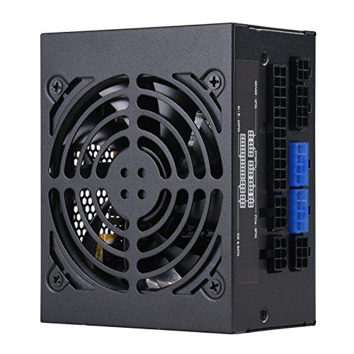 SilverStone Technology SST-SX650-G v 1.1 - SFX Serie, 650W 80 Plus Gold flüsterleises PC-Netzteil mit 92 mm, 100% modular