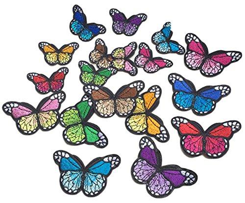 Blue Vesse 10 STK Stickerei Bunte Schmetterling Nähen Patch Abzeichen Tasche Hut von Jeans Kleid Applique Handwerk Cheongsam