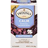 Twinings of London Daily Wellness Tea, Calm with Adaptogens, Fig & Vanilla, Flavored Herbal Tea, 18 Count (Pack of 6)