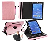 Emartbuy® Blaupunkt Polaris 803 Tablet 8 Zoll Universal (7-8 Zoll) Baby Rosa PrämiePULeder360GradrotierendeStandFolioGeldbörseTascheHülle + Rosa Eingabestift