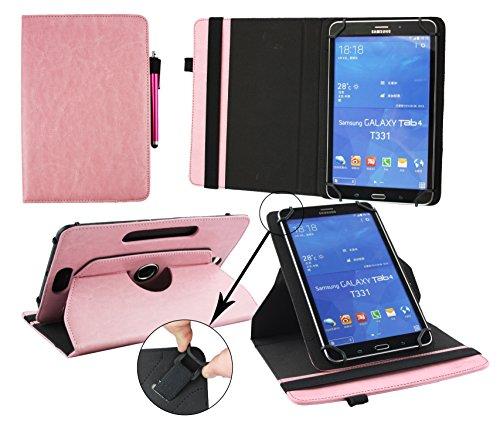 Emartbuy® Odys WinTab 8 Zoll Tablet Universal (7-8 Zoll) Baby Rosa PrämiePULeder360GradrotierendeStandFolioGeldbörseTascheHülle + Rosa Eingabestift