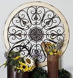 iron art - Benzara 52734 Metal Wood Wall Panel Decor